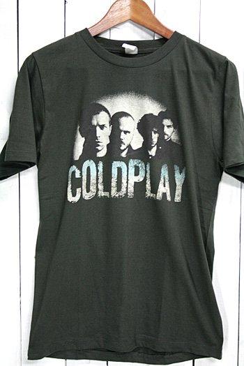 コールドプレイ Coldplay Tシャツ ビンテージプリント バンドTシャツ ブラック