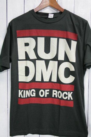 Run-D.M.C. ラン・ディーエムシー Tシャツ ビンテージプリント バンドTシャツ ブラック
