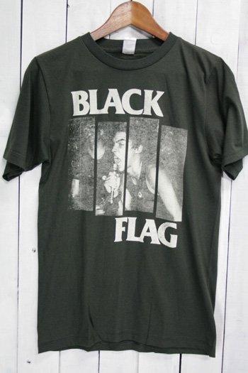ブラック・フラッグ BLACK FLAG Tシャツ ビンテージプリント バンドTシャツ ブラック