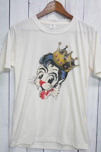 ストレイ・キャッツ Stray Cats Tシャツ ビンテージプリント バンドTシャツ ホワイト
