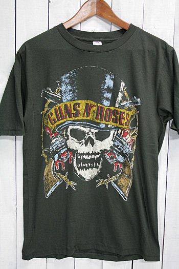 <img class='new_mark_img1' src='https://img.shop-pro.jp/img/new/icons43.gif' style='border:none;display:inline;margin:0px;padding:0px;width:auto;' />ガンズ・アンド・ローゼズ Guns N' Roses Tシャツ ビンテージプリント バンドTシャツ ブラック 1989ツアープリント