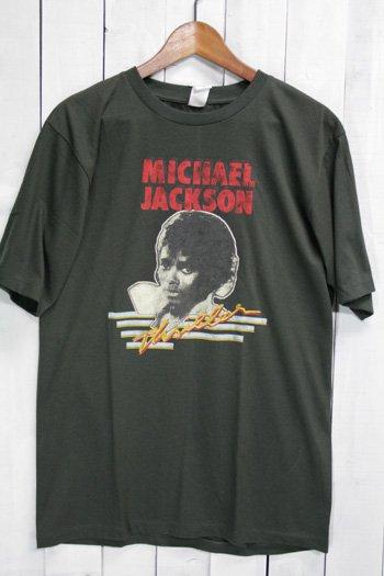 マイケル・ジャクソン MICHAEL JACKSON スリラー Tシャツ ビンテージプリント バンドTシャツ ブラック
