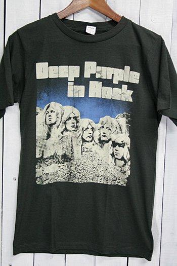 ディープ・パープル Deep Purple in Rock  Tシャツ ビンテージプリント バンドTシャツ ブラック