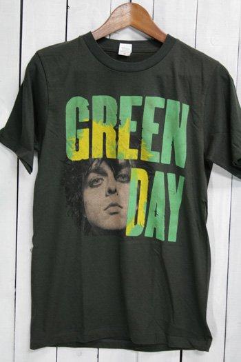 グリーン・デイ Green Day Tシャツ ビンテージプリント バンドTシャツ ブラック