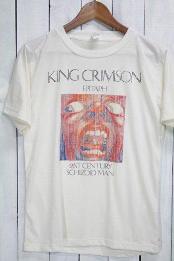<img class='new_mark_img1' src='https://img.shop-pro.jp/img/new/icons43.gif' style='border:none;display:inline;margin:0px;padding:0px;width:auto;' />キング・クリムゾン King Crimson クリムゾン・キングの宮殿 Tシャツ ビンテージプリント バンドTシャツ ホワイト