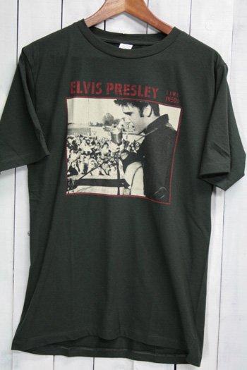 Elvis Presley エルヴィス・プレスリー Tシャツ ビンテージプリント バンドTシャツ ブラック