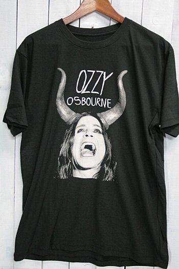 オジー・オズボーン OZZY OSBOURNE Tシャツ ビンテージプリント バンドTシャツ ブラック