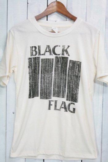 ブラック・フラッグ  BLACK FLAG Tシャツ ビンテージプリント バンドTシャツ ホワイト