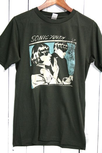 ソニック・ユース (Sonic Youth) GOO Tシャツ ビンテージプリント バンドTシャツ ブラック