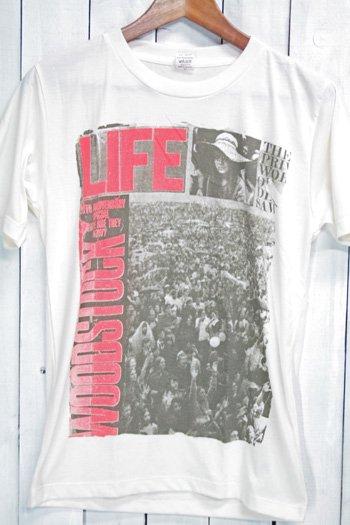 ウッドストック Woodstock Music and Art Festival Tシャツ ビンテージプリント バンドTシャツ ホワイト