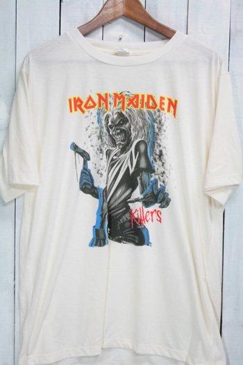 アイアン・メイデン(Iron Maiden)キラーズ(Killers) Tシャツ ビンテージプリント バンドTシャツ ホワイト XL