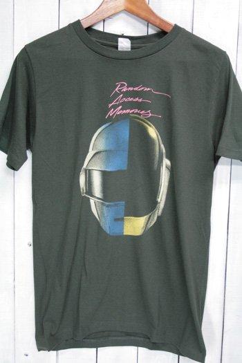 ダフトパンク(Daft Punk) ランダム・アクセス・メモリーズ Tシャツ ビンテージプリント バンドTシャツ ブラック M