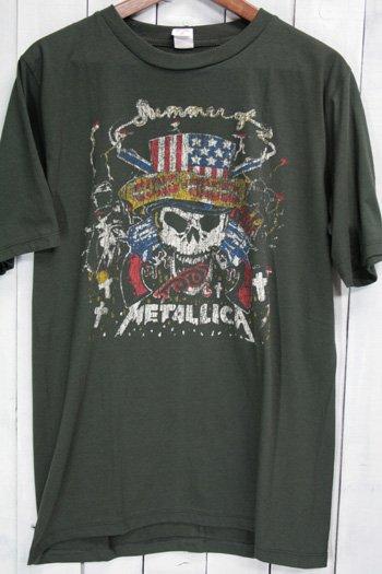 <img class='new_mark_img1' src='https://img.shop-pro.jp/img/new/icons43.gif' style='border:none;display:inline;margin:0px;padding:0px;width:auto;' />ガンズ・アンド・ローゼズ Guns N' Roses メタリカ (Metallica) Tシャツ ビンテージプリント バンドTシャツ ブラック XL
