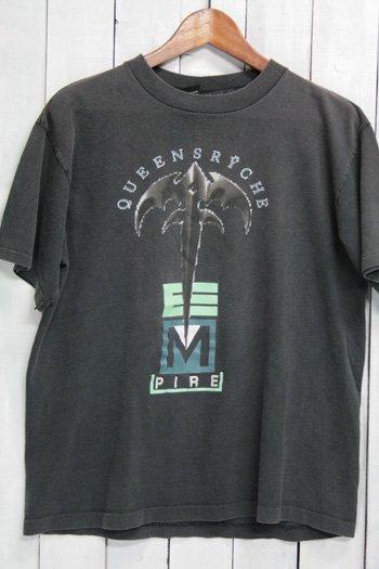 90年代 クイーンズライク Queensryche  エンパイア EMPIRE ビンテージ Tシャツ バンドTシャツ ブラック 91年ツアー Tシャツ