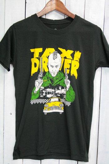 タクシードライバー Taxi Driver 映画 Tシャツ ビンテージプリント ブラック