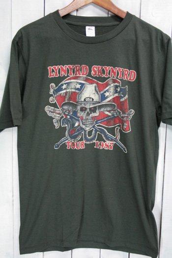 レーナード・スキナード Lynyrd Skynyrd Tシャツ ビンテージプリント バンドTシャツ ブラック L