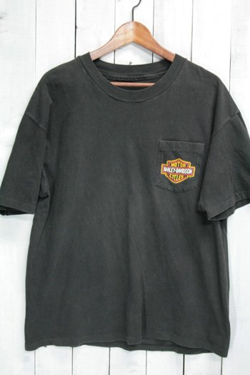 90年代 古着 ハーレー Tシャツ|ハーレーダビッドソン(HARLEY-DAVIDSON) ポケットTシャツ ブラック