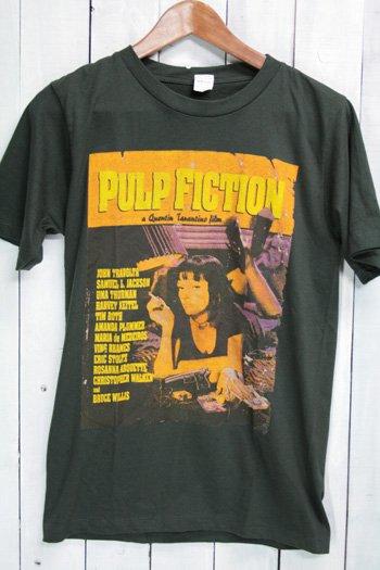 パルプ・フィクション Pulp Fiction Tシャツ ビンテージプリント 映画 ブラック M