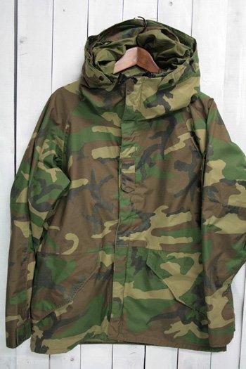 90年代 ECWCS ゴアテックスパーカー 古着 ウッドランドカモ USアーミー 米軍 ミリタリージャケット M/S