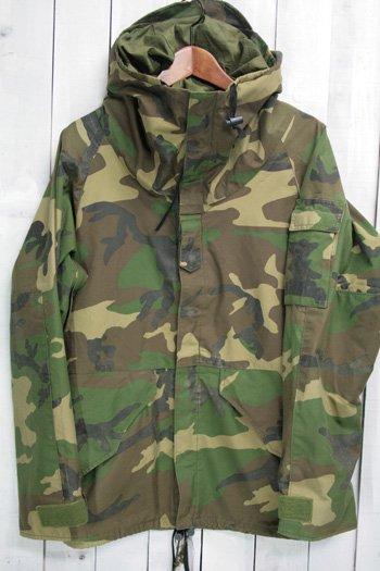 80年代 ECWCS ゴアテックスパーカー 初期型 1st 古着 ウッドランドカモ USアーミー 米軍 ミリタリージャケット S/R