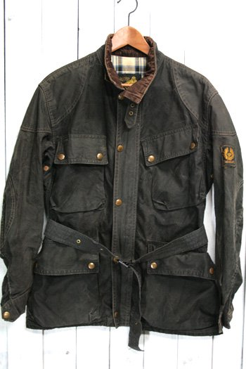 60年代 Belstaff(ベルスタッフ)トライアルマスター|TRIALMASTER サミーミラータグ オイルドジャケット ワックスジャケット 古着 ビンテージ ブラック 黒 S