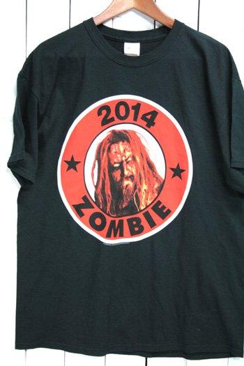 2014 ロブ・ゾンビ Rob Zombie ホワイト・ゾンビ White Zombie Tシャツ バンドTシャツ ブラック 黒 L