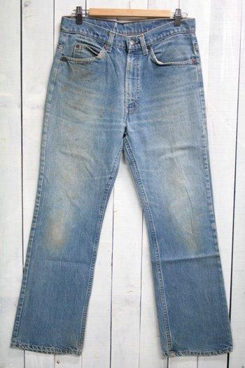 80年代 Levis 517 リーバイズ 517 古着 デニムパンツ ブーツカット オレンジタブ 色薄め