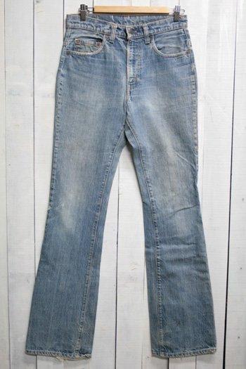 70年代 Levis 517 リーバイズ 517 古着 デニムパンツ ブーツカット 内股シングル ビンテージ 色薄め