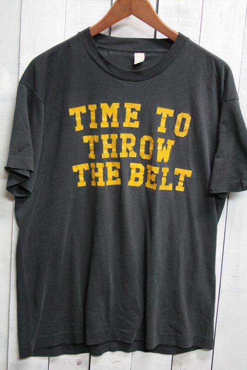 80年代 Tシャツ ビンテージTシャツ ブラック 黒 XL スクリーンスターズ メッセージTシャツ