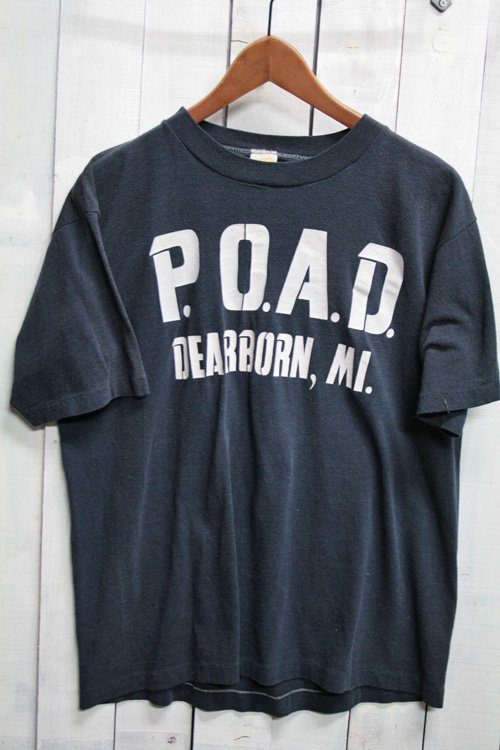 80年代 sportswear スポーツウェア Tシャツ ビンテージTシャツ プリントTシャツ ネイビー 紺 POAD