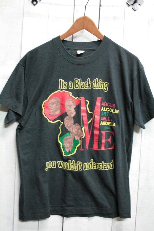 80年代頃 古着 It's Black thing マルコム X Tシャツ ブラック 黒 プリントTシャツ スクリーンスターズ製