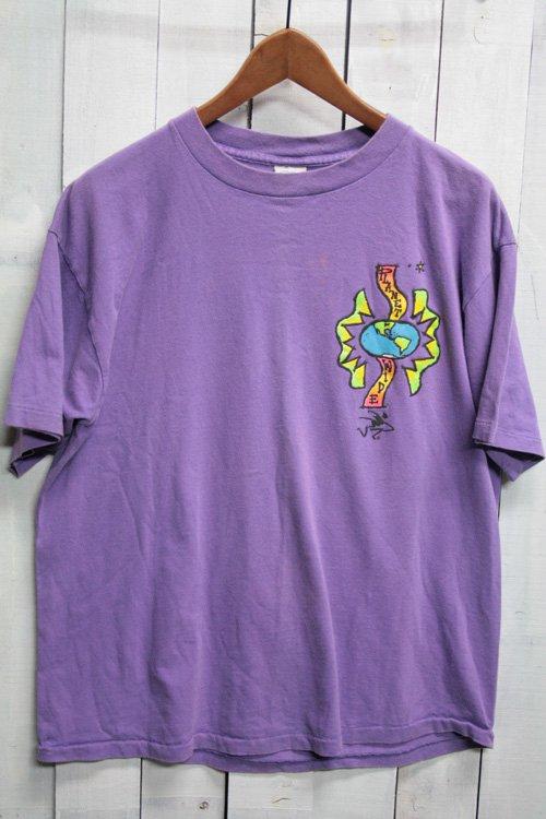 90年代 オーシャンパシフィック Ocean Pacific プリントTシャツ Tシャツ サーフTシャツ ビンテージTシャツ サーフィン 紫 パープル