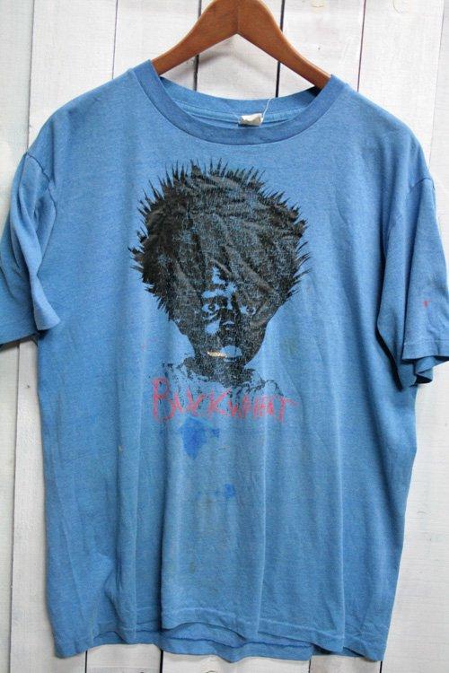 90年代 プリントTシャツ Tシャツ ビンテージTシャツ ブルー 青 アート 古着