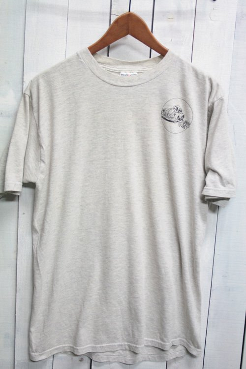 プリントTシャツ Tシャツ ビンテージTシャツ グレイ 車 アート 古着