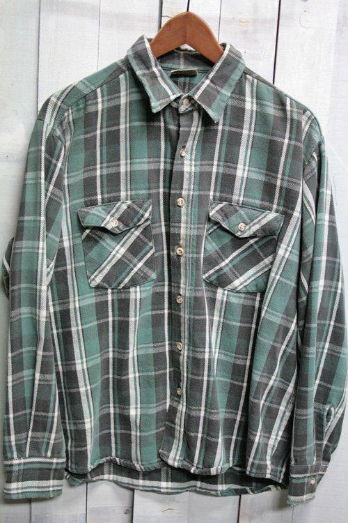 90年代頃 FIVE BROTHER ファイブブラザー 古着 ヘビーネルシャツ グリーン