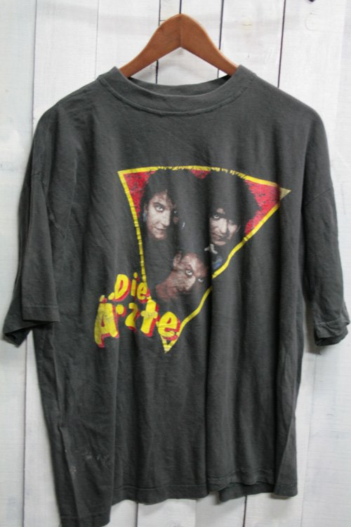 80年代-90年代 die arzte ディ・エルツテ バンドTシャツ Tシャツ ビンテージ ブラック 黒 古着