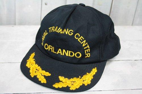 80年代〜90年代頃 us-navy USネイビー 米国海軍トレーニングセンター naval training center oralando キャップ 海軍キャップ ネイビー 濃紺 アメリカ製