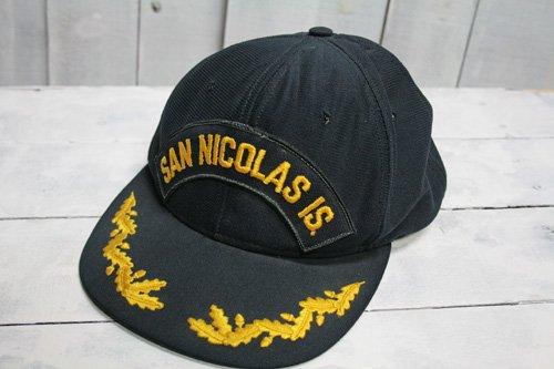 80年代〜90年代頃 us-navy USネイビー san nicolas is  サン・ニコラス島 キャップ 海軍キャップ ネイビー 濃紺 アメリカ製