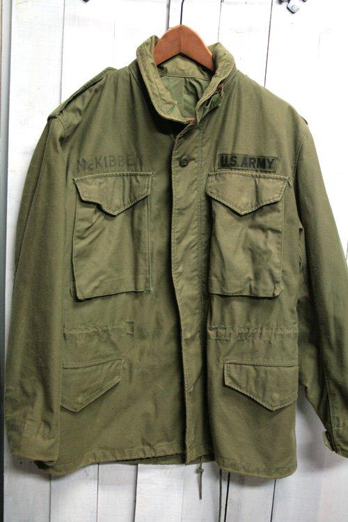 70年代 m65フィールドジャケット 古着 ビンテージ ブラスジッパー 3rd s/s