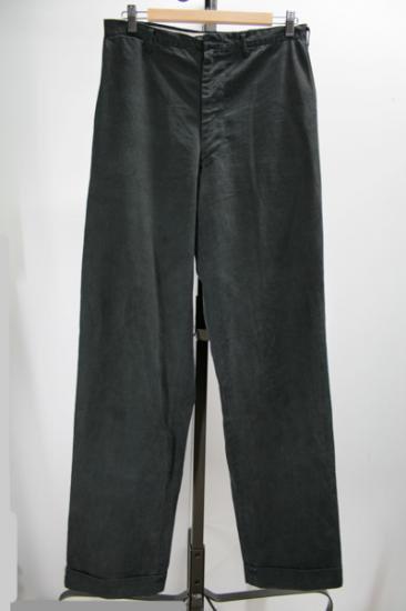 50年代 コットンワークパンツ ・シンチバック・ブラック