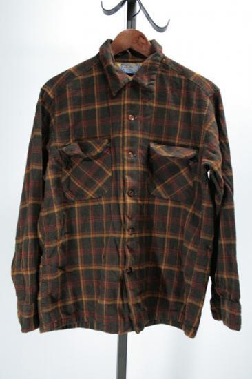 60年代 PENDLETON ペンデルトン・ウールチェックシャツ 古着
