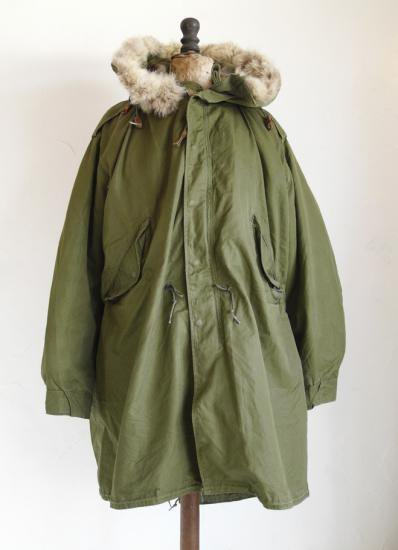 PARKA-SHELL,M-1951. PARKA LINER FUR TRIM FULL SET