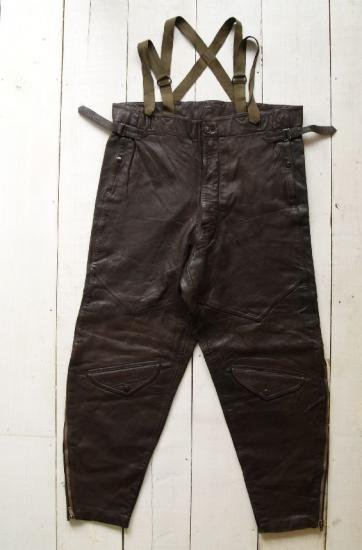 WWII FRENCH LEATHER FLYING TROUSERS