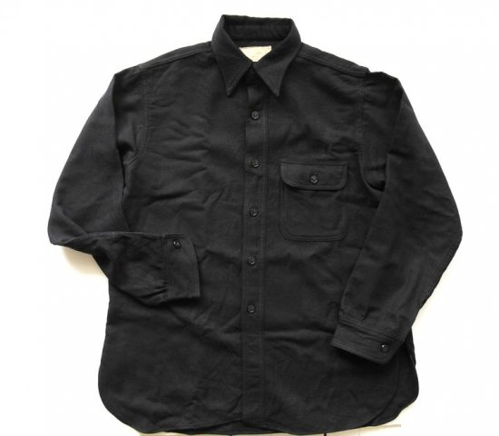 U.S. NAVY/U.S.C.G. SHIRT,WOOL FLANNEL,BLUE.