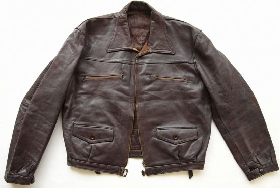 VINTAGE LUFTWAFFE LEATHER JACKET MADE IN FRANCE