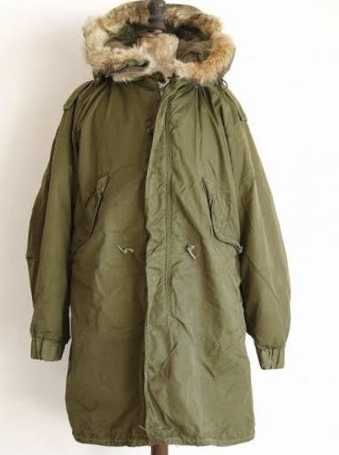 PARKA,SHELL,M-1951.SIZE X-SMALL  w/PARKA LINER,FUR TRIM. FULL SET
