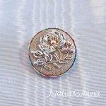 バラのブローチキット - silver