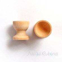 小さな木のカップ - 2個セット