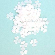 スパンコール 3枚花びら 12mm パールホワイト(大パック有)