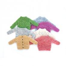 Nelie Rubinaオリジナル基本のセーター材料セット(1/6サイズドール用)